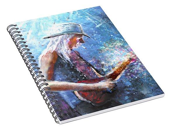 Johnny Winter Spiral Notebook