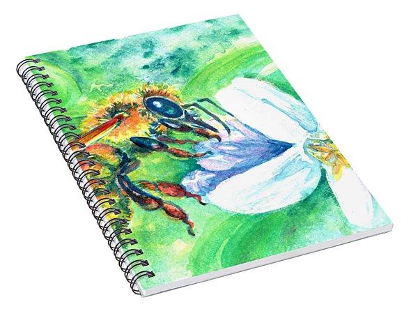 Key Lime Honeybee Spiral Notebook