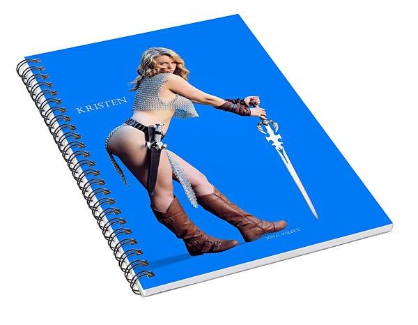 Kirsten Vgirl Pinup Spiral Notebook