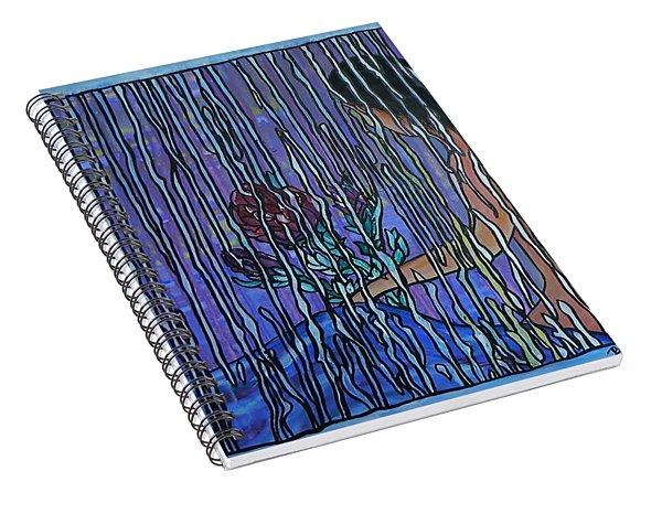 Kissing Rain Spiral Notebook