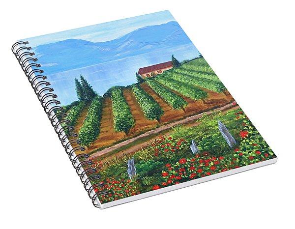Lakeside Vineyard Spiral Notebook