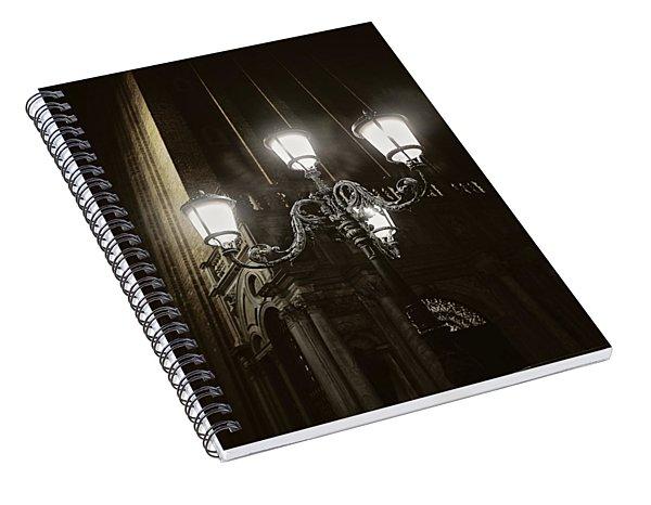 Lamp Light St Mark's Square Spiral Notebook
