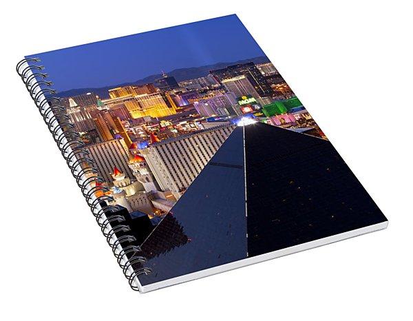 Las Vegas Skyline Spiral Notebook