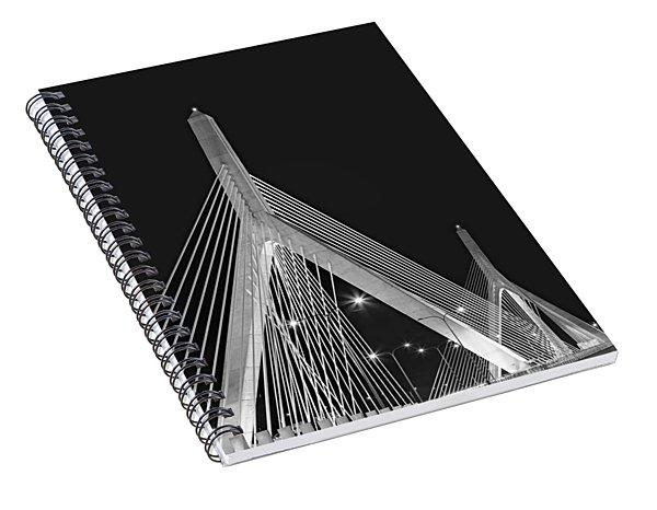 Leonard P. Zakim Bunker Hill Memorial Bridge Bw II Spiral Notebook