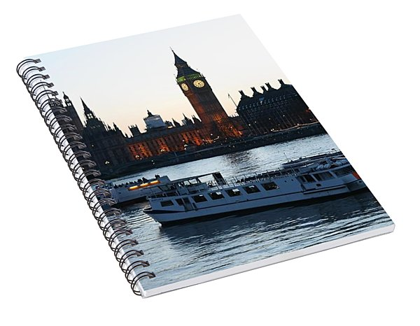 Lighting Up Time On The Thames Spiral Notebook