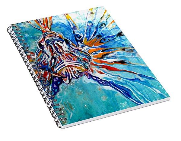 Lion Fish Blue Spiral Notebook