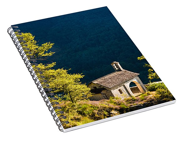 Little Chapel In Ticino With Beautiful Green Trees Spiral Notebook