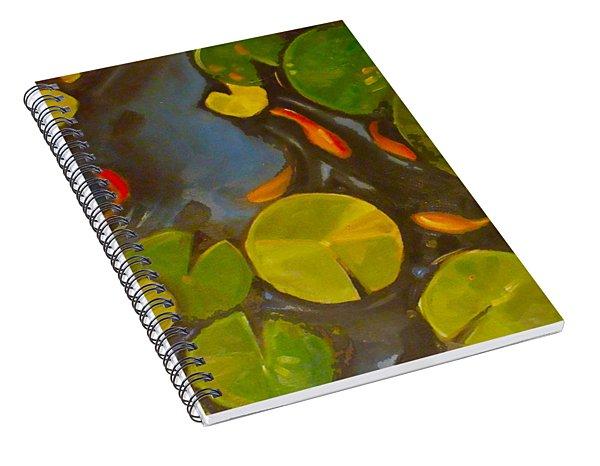Little Fish Koi Goldfish Pond Spiral Notebook
