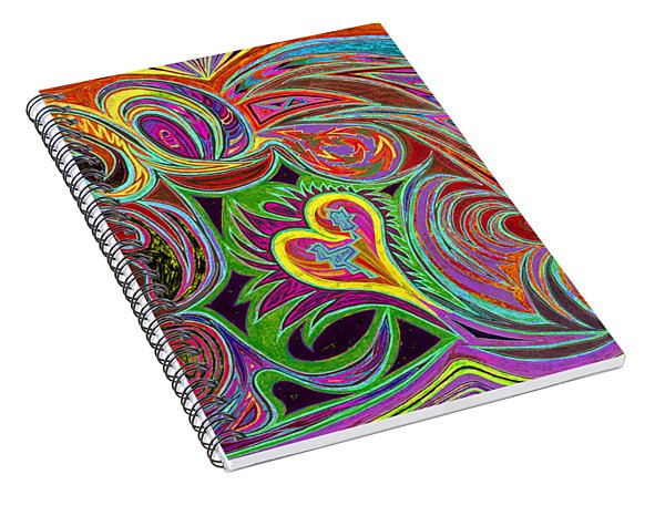love in every shade of U v7 - love in every shade of blue Spiral Notebook