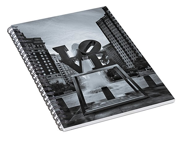 Love Park Bw Spiral Notebook