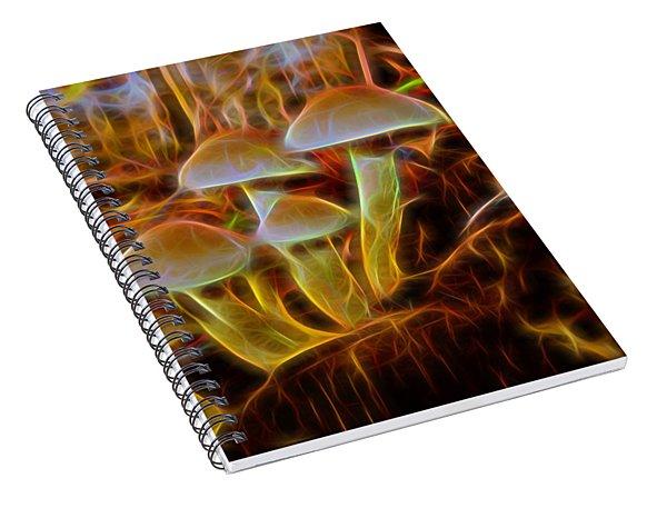 Magic Mushroom-3 Spiral Notebook