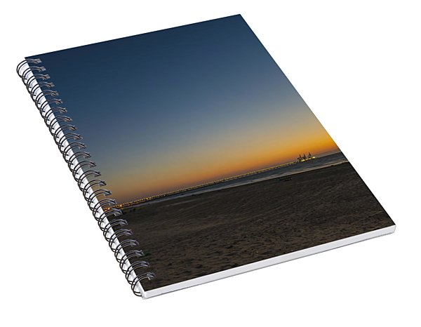 magical sunset moments at Caesarea  Spiral Notebook