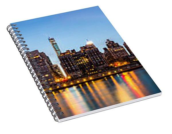 Manhattan Panorama And Queensboro Bridge Spiral Notebook