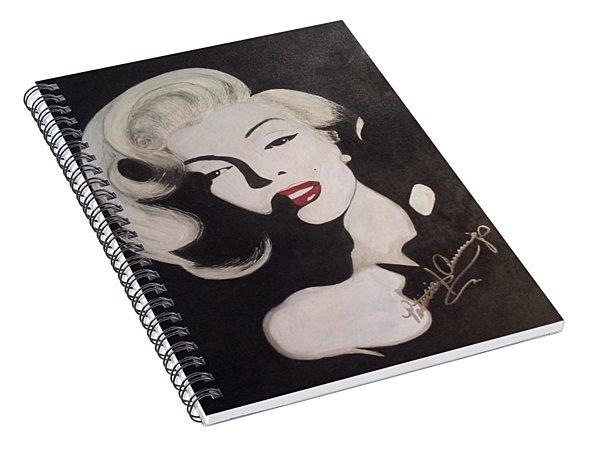 Marilyn In The Moonlight Spiral Notebook