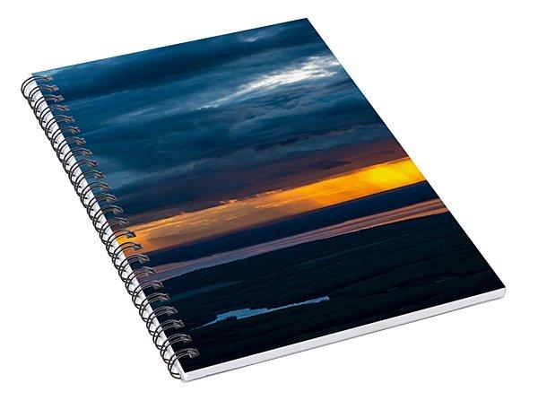 Midnight Alaskan Storms Spiral Notebook