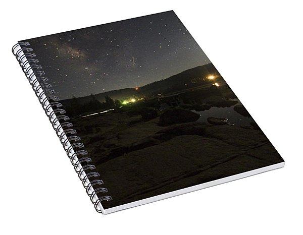 Milky-way Over Plasse's Resort - Silver Lake Spiral Notebook