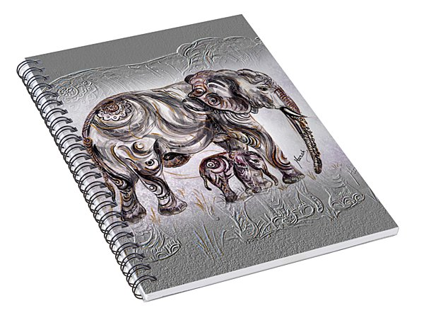 Mom Elephant Spiral Notebook