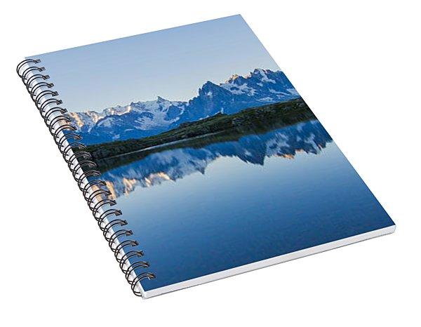 Mont Blanc Massif Panorama Spiral Notebook