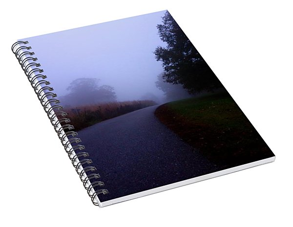 Moody Autumn Pathway Spiral Notebook