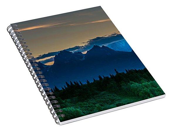 Mount Foraker At Midnight Spiral Notebook