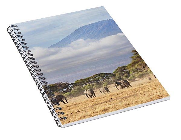 Mount Kilimanjaro Amboseli  Spiral Notebook