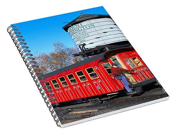 Mount Washington Cog Railway Car 6 Spiral Notebook