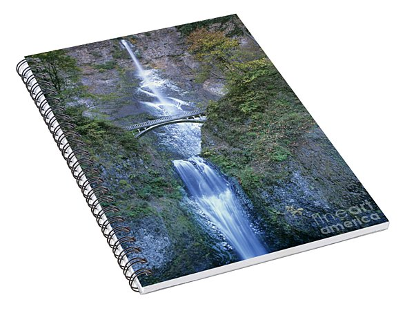 Spiral Notebook featuring the photograph Multnomah Falls Columbia River Gorge by Dave Welling
