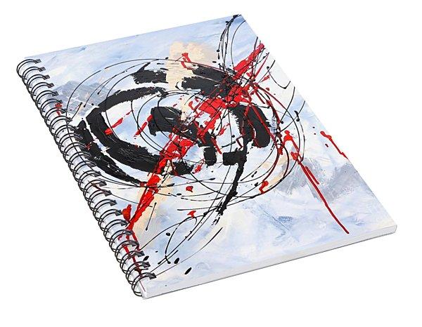 Musical Abstract 002 Spiral Notebook