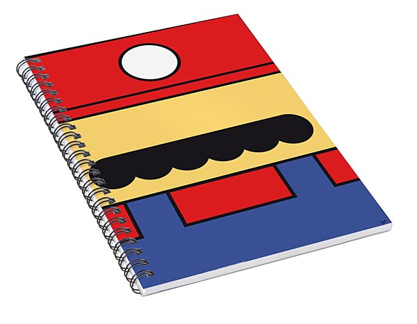 My Mariobros Fig 01 Minimal Poster Spiral Notebook