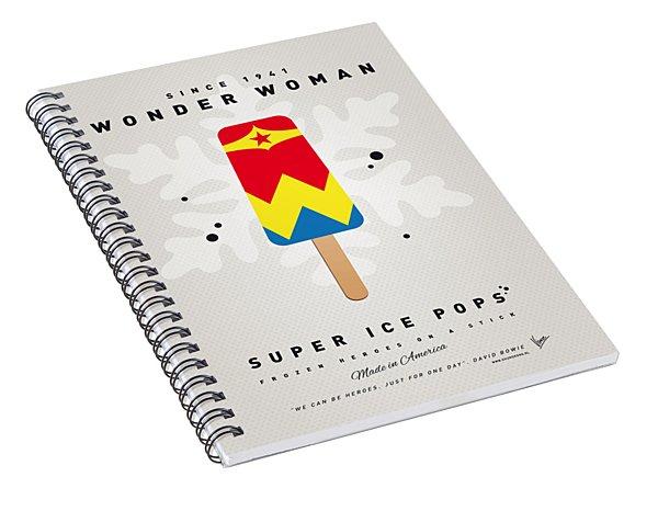 My Superhero Ice Pop - Wonder Woman Spiral Notebook