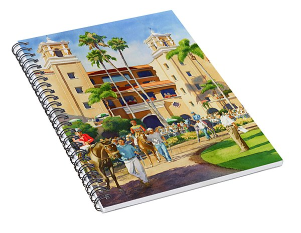 New Paddock At Del Mar Spiral Notebook