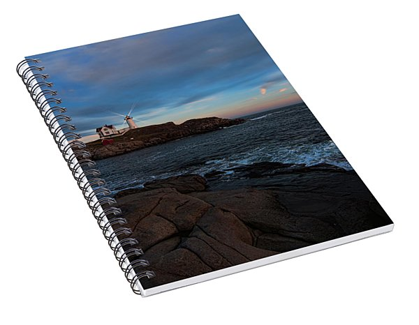 Night At Nubble Light Spiral Notebook