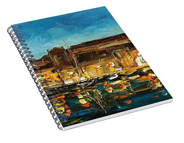 Night In Dubrovnik Harbour Spiral Notebook