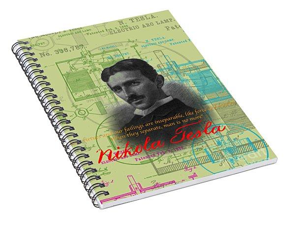 Nikola Tesla #3 Spiral Notebook