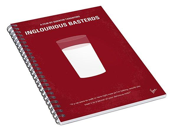 No138 My Inglourious Basterds Minimal Movie Poster Spiral Notebook