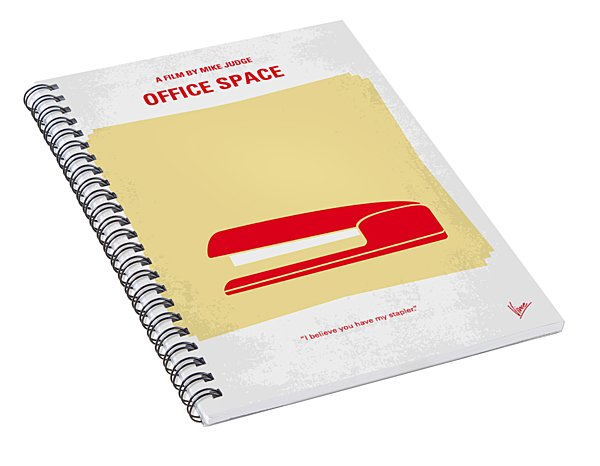 No255 My Office Space Minimal Movie Poster Spiral Notebook