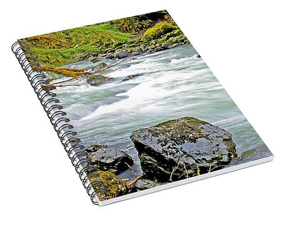Nooksack River Rapids Washington State Spiral Notebook