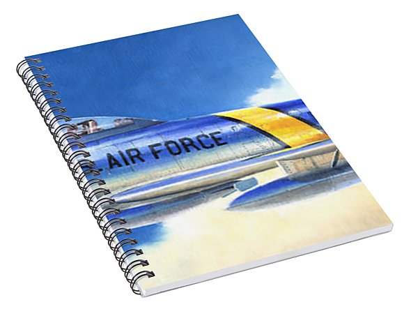 North American F-86f Sabre Spiral Notebook