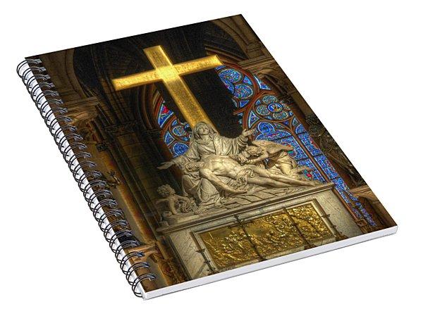 Notre Dame Pieta Spiral Notebook
