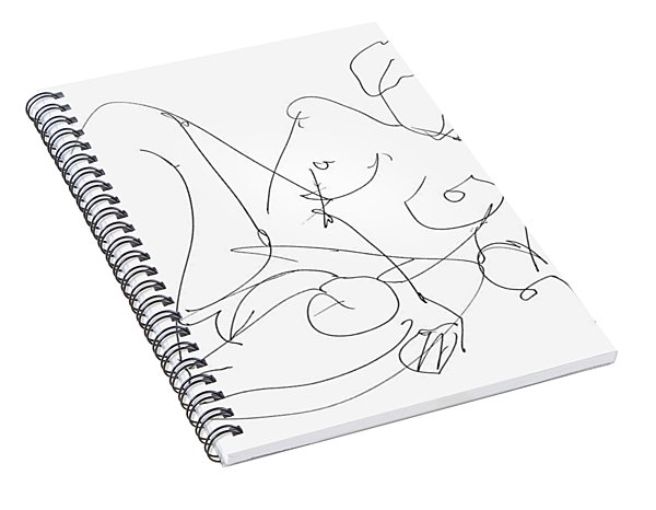 Nude Female Drawings 15 Spiral Notebook