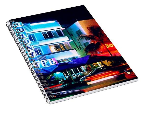 Ocean Drive Polaroid  Spiral Notebook