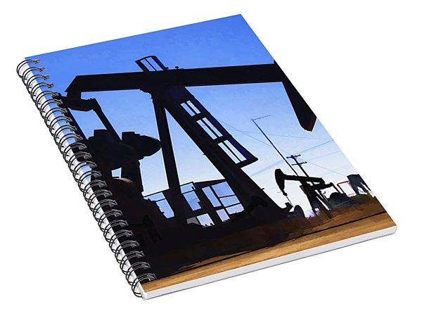 Oil Fields Spiral Notebook