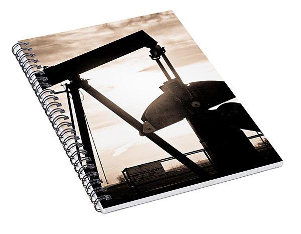 Oil Well Pump Spiral Notebook