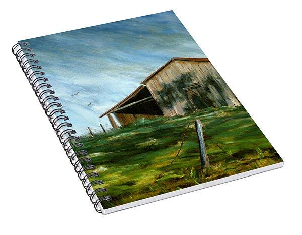 Old Barn Landscape Art Pleasant Hill Louisiana  Spiral Notebook