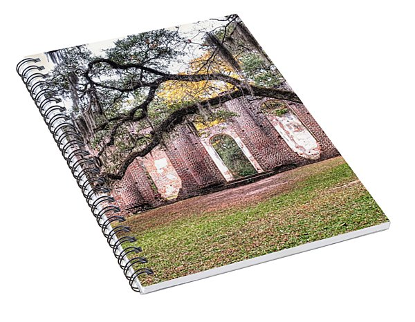 Old Sheldon Church - Bending Oak Spiral Notebook