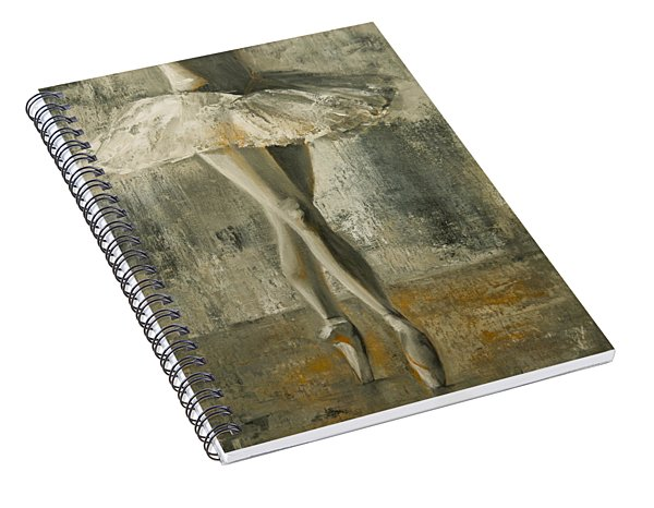 Spiral Notebook featuring the painting En Pointe by Jani Freimann