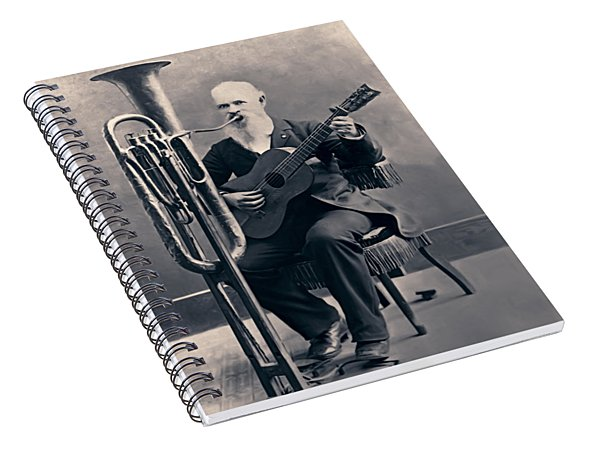 One Man Band C. 1890 Spiral Notebook