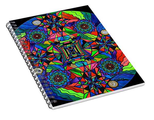 Out Of Body Activation Grid Spiral Notebook