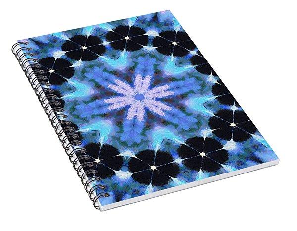Painted Cymatics 108.00hz Spiral Notebook