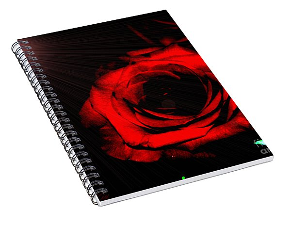 Passion. Red Rose Spiral Notebook